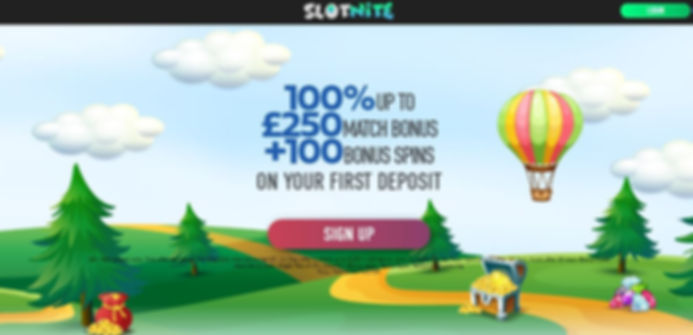 Slotnite Casino Review - Lobby and Welco