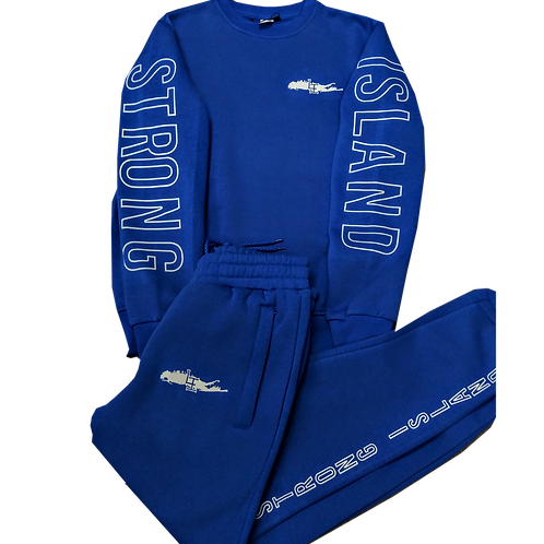 STRONG ISLAND BLUE JOGGER SUITS