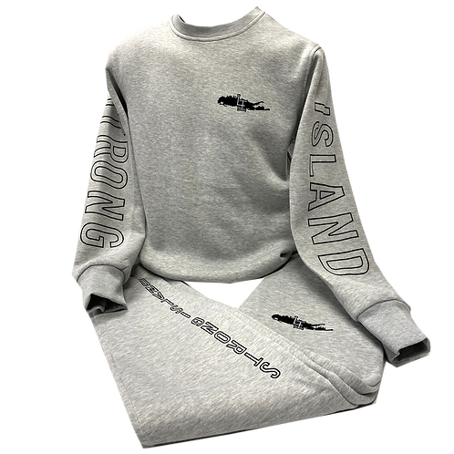 STRONG ISLAND GREY JOGGER SUIT