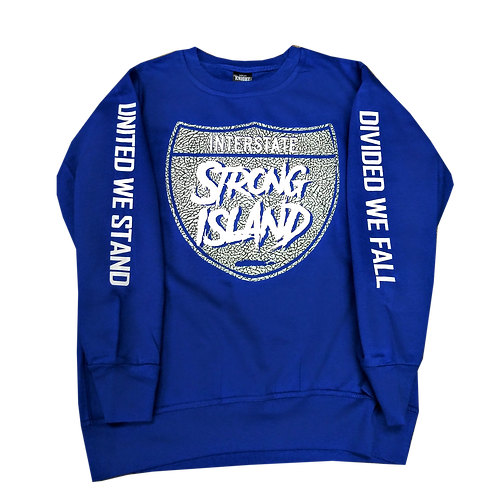 STRONG ISLAND ROYAL BLUE UNITY SWEATER