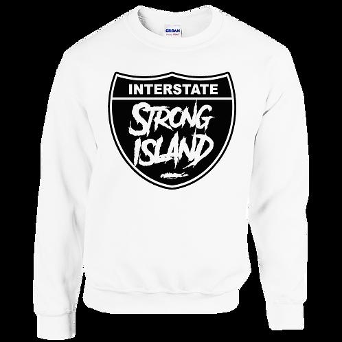 STRONG ISLAND WHITE SWEATSHIRT
