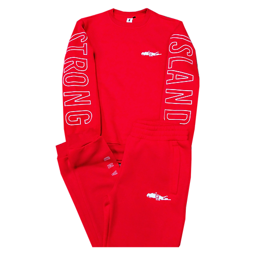 STRONG ISLAND RED JOGGERS