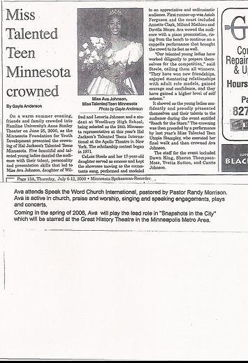 Ava the Aviaotor wins Miss Talented Teen Minnesota