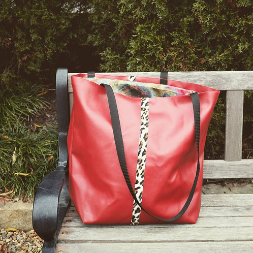 """Vermilion"" tote bag"