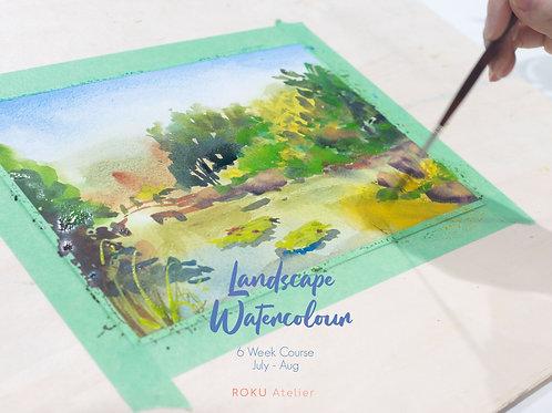 Landscape Watercolour Course I (6 Weeks, Beginner)
