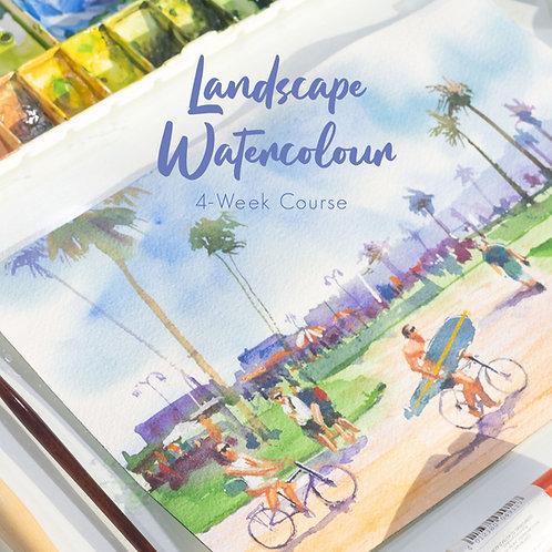 Landscape Watercolour Course I (4 Weeks, Beginner)