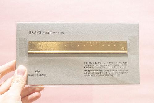 Brass Ruler 15cm (Made in Japan)