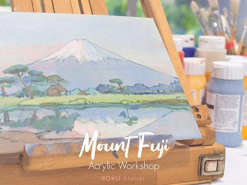 Mount Fuji Acrylic Landscape Workshop