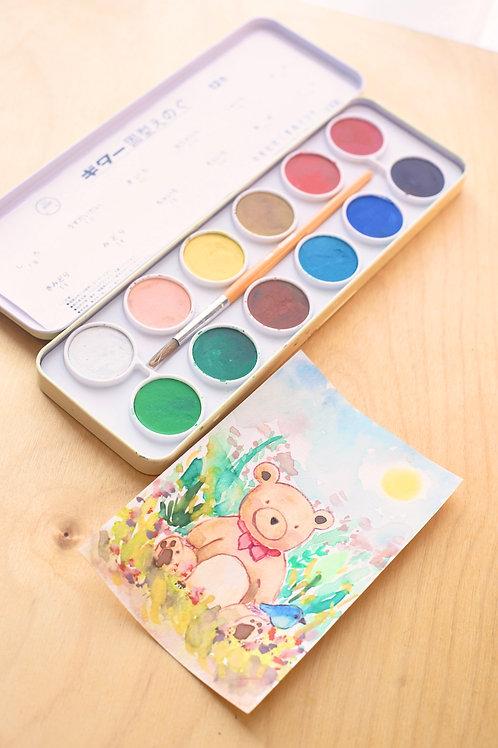 Children's Watercolour Pan Set (12 Colours)