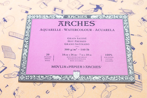Arches Watercolour Paper (Hot Pressed)