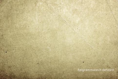 Epigrammatech defined