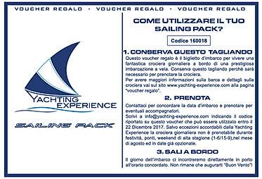 Voucher regalo sailing Pack