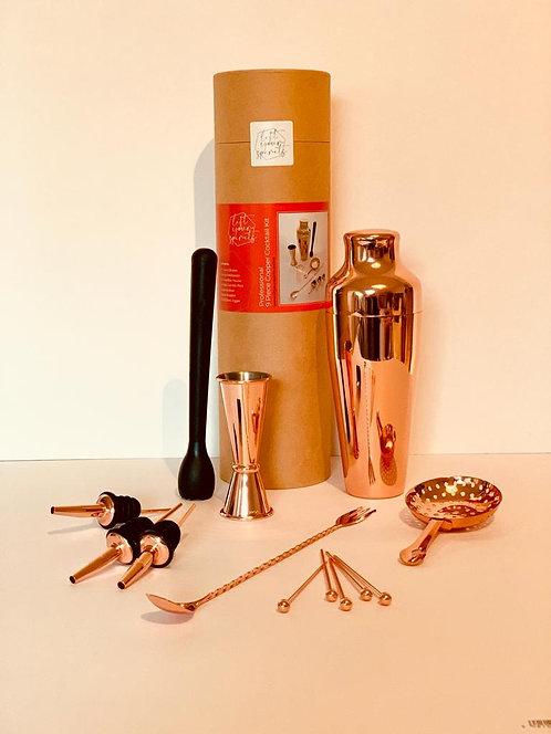 Art Deco Copper Cocktail Set