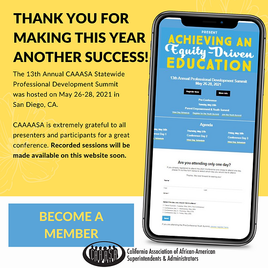 CAAASA 2021 Post Event Home Page button.