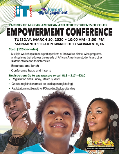 2020_CAAASA_PARENT EMPOWERMENT_CONFERENC