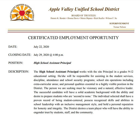 Apple Valley High School Assistant Princ