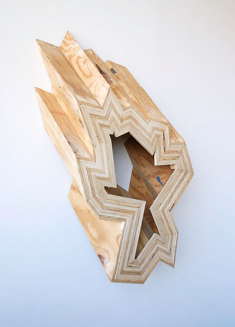 reade bryan, artist, artwork, plywood artwork