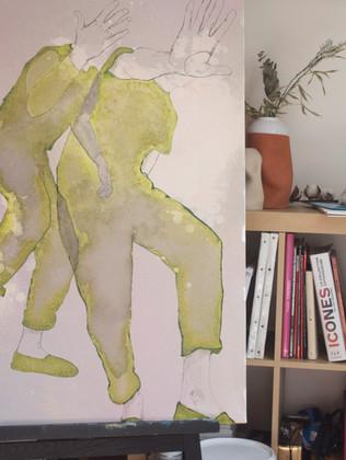 toile de lin  115x90x2cm