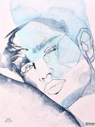 Auguste toile de lin 40x30x2 cm
