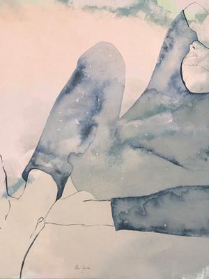La Canicule toile de lin  115x90x2 cm