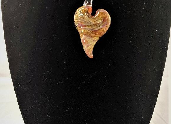 Jewelry - Desert Heart Borosilicate Glass Pendant