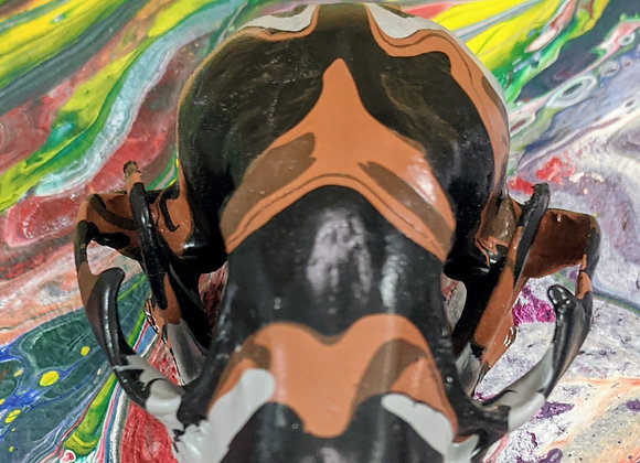 Fluid Art - Camo Trash Panda - Raccoon Skull - Home Decor