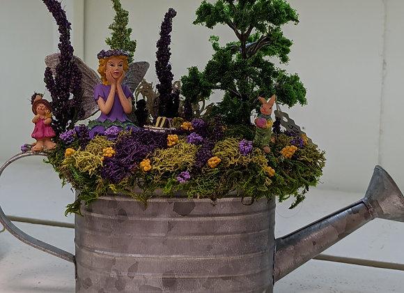 Home Decor - Pail Fairy Garden