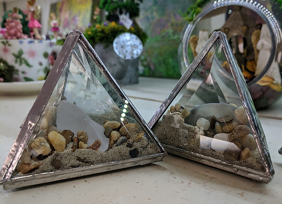 Stained Glass Sand Prisms