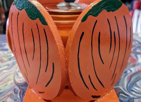 Fall Decor - Pumpkin Candle Holder & Candle