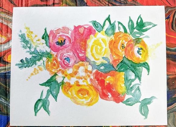 A Spring Bouquet Watercolor