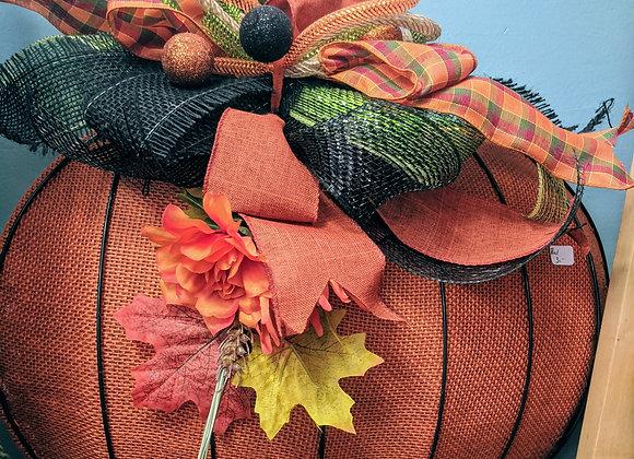 Fall Decor - Pumpkin Wreath