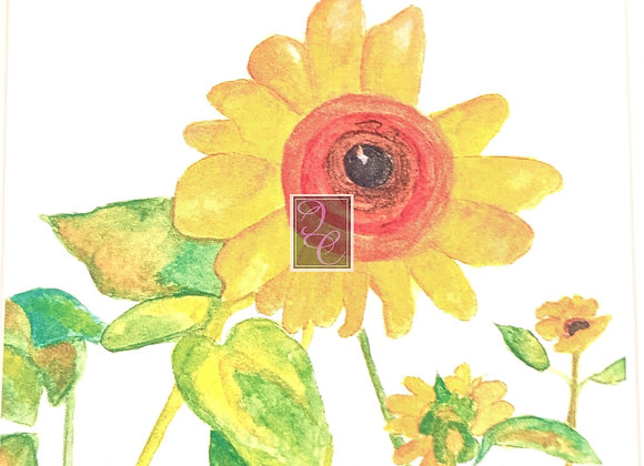 Sunflowers in Summer Watercolor