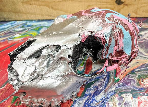 Fluid Art - Doe Doe - Deer Skull - Home Decor