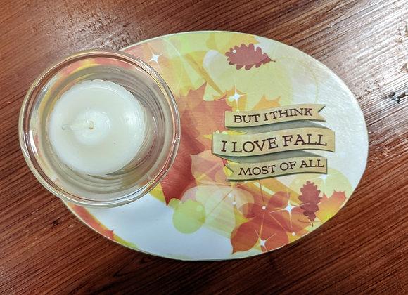 Fall Decor - Autumn Candle Plaques