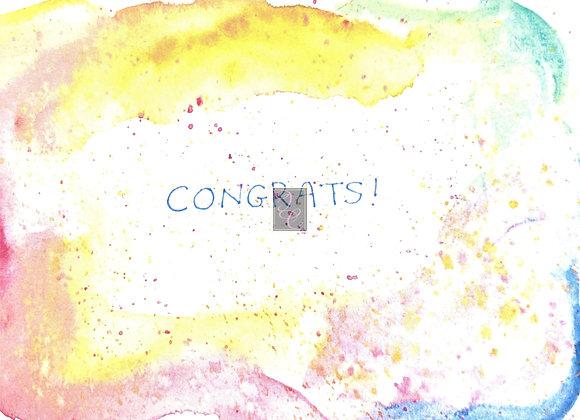 Congrats Watercolor Card