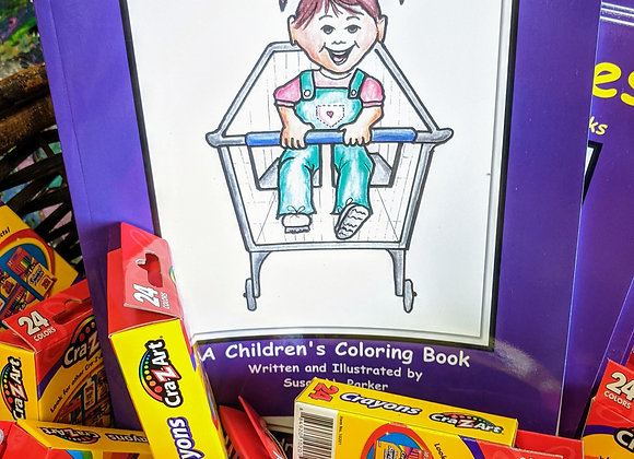 Finding Smiles Children's Coloring Book