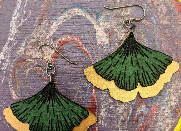 Jewelry - Simply Adorned Double Layer Leather Earrings