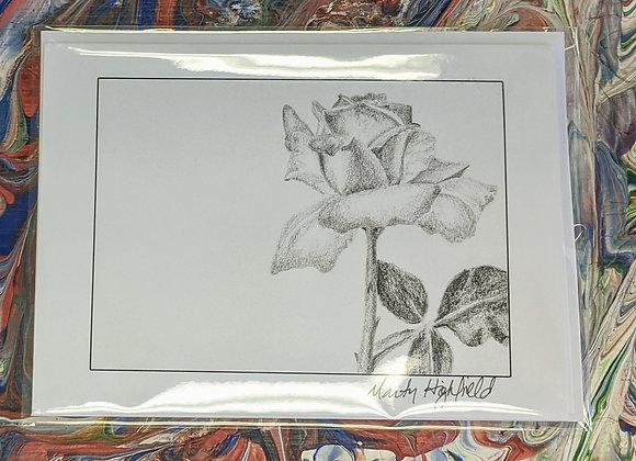 Rose Sketch Print