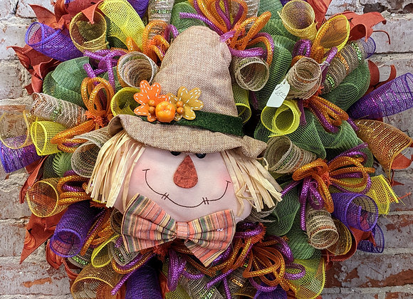 Scarecrow Head Wreath