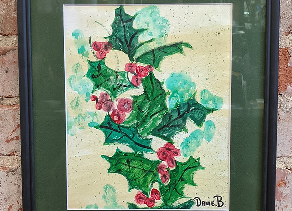 Holly Branches Painting