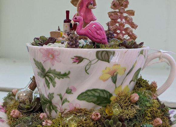 Home Decor - Tea Cup Fairy Garden