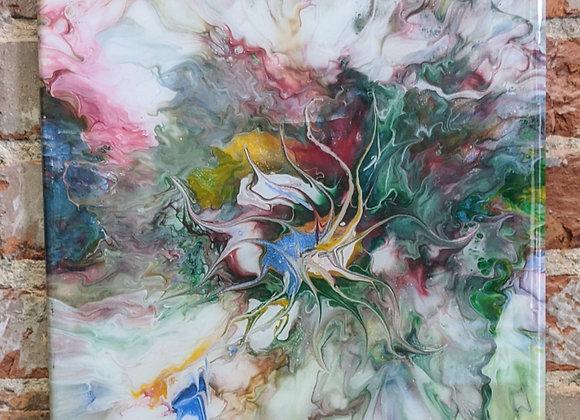 "13""x13"" Epoxy Pour Paintings"