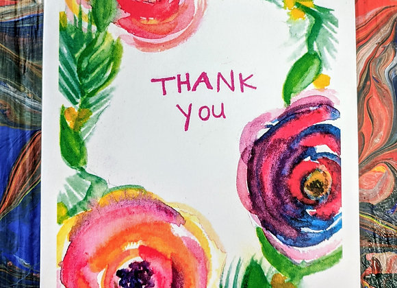 Bouquet of Thanks Watercolor