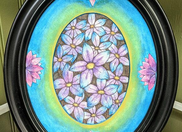 Purple Flowers in Watercolor
