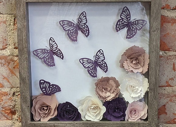 Paper Quilled Butterflies and Flowers
