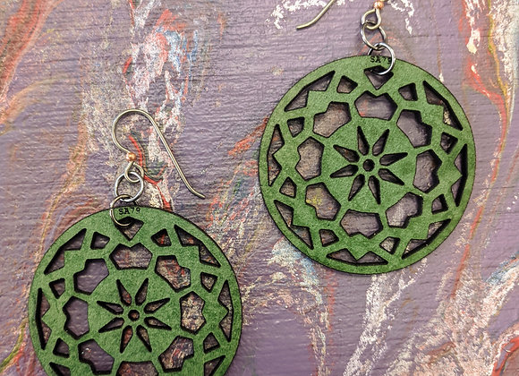 Simply Adorned Leather Earrings - Single Layer