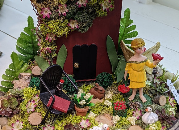 Home Decor - Red Fairy House