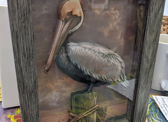 Pelican 3D Wall Art 5in x 7in