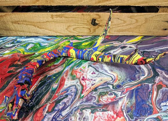 Fluid Art - Primary Colors Antler Home Decor