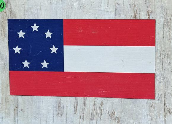 Patriotic Flag on Pallet Wood Wall Art